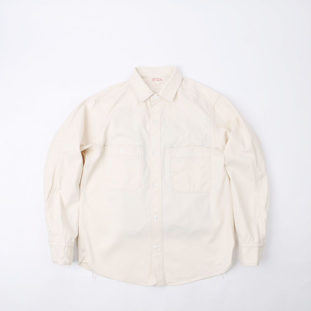"[Union Special Overalls]Work Shirt""DIAMOND CRAKER""(Raw White)"