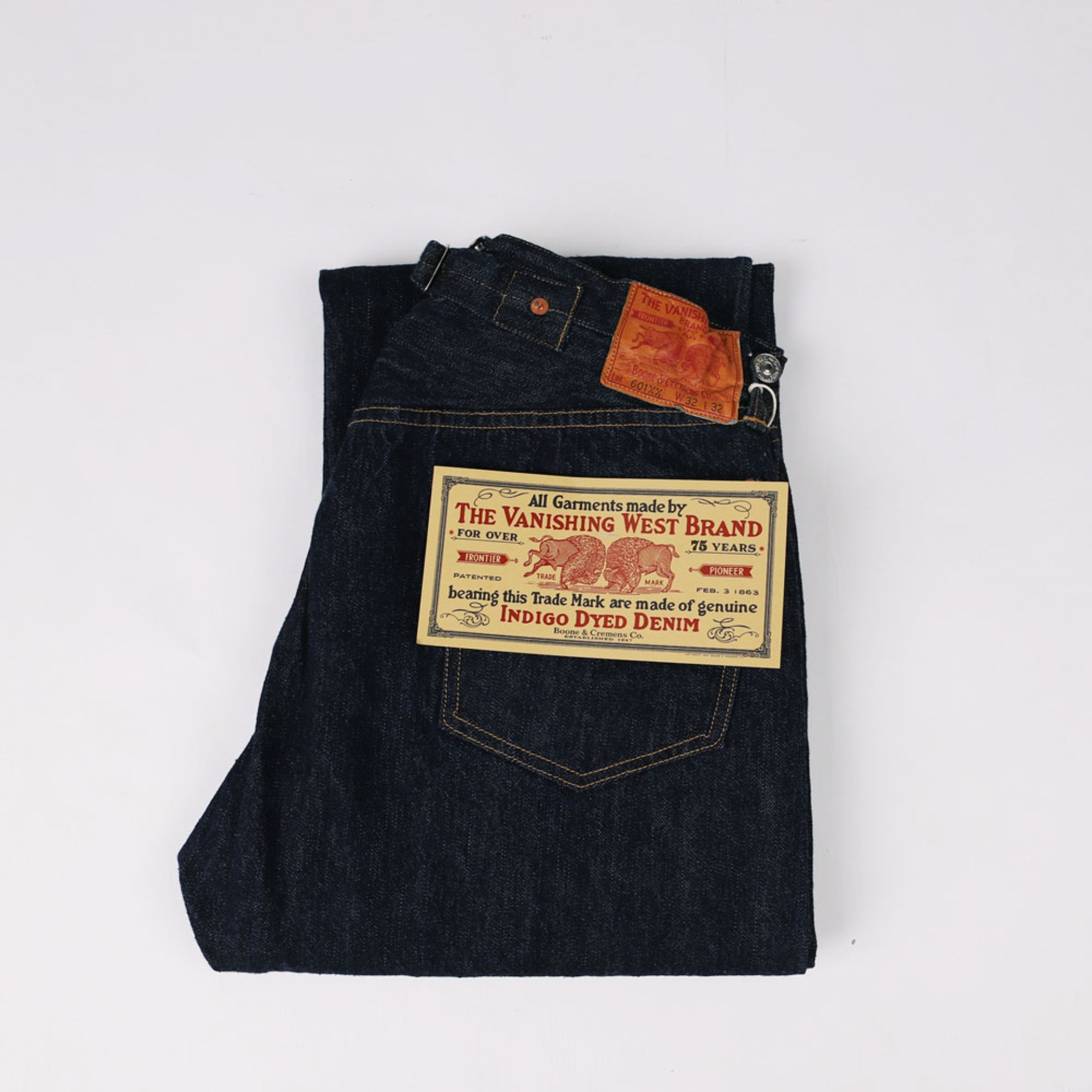 "[The Vanishing West] 5 Pocket Overalls""Lot 601 XX 1922"" (Indigo)"