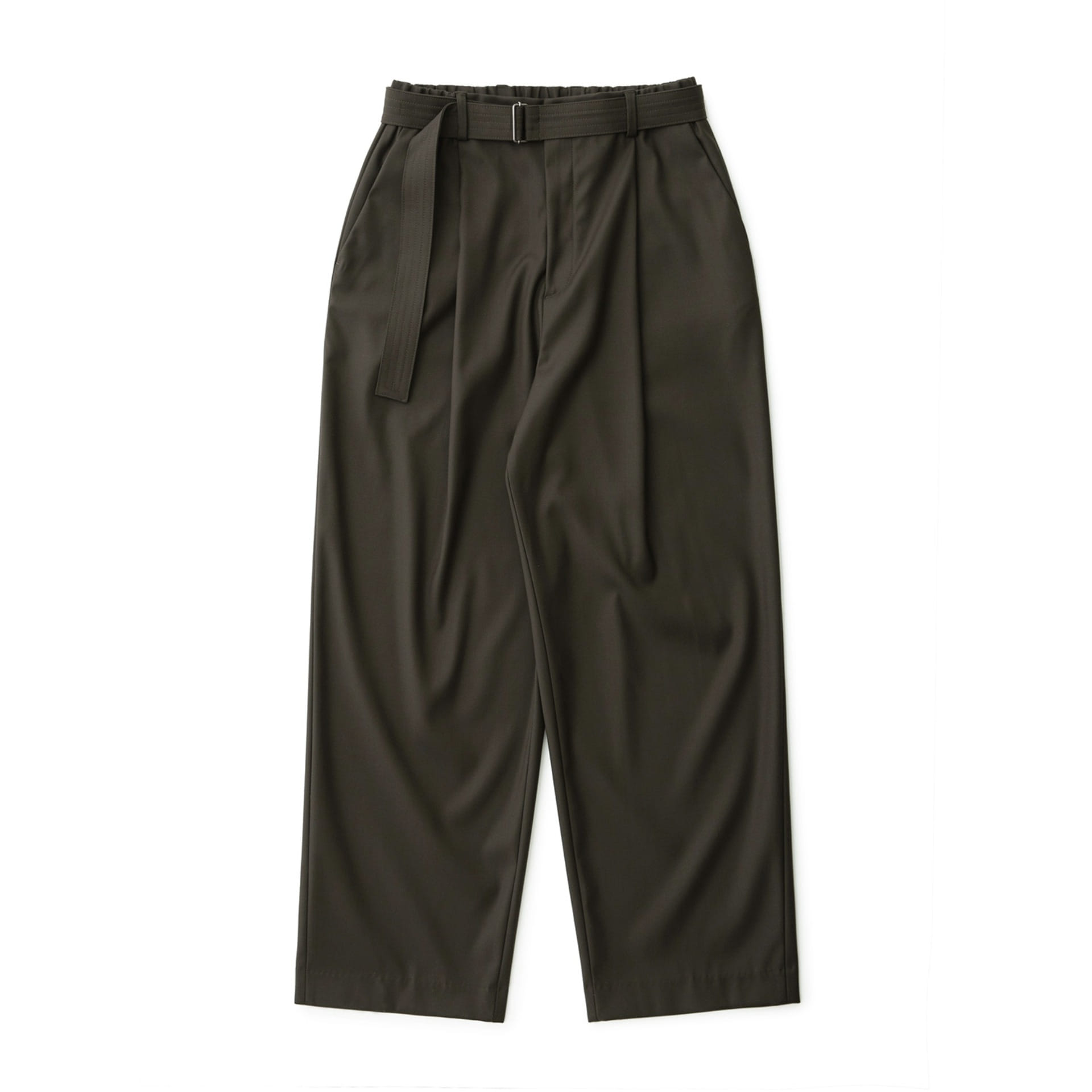 Calm Banded Pants (Olive Brown)