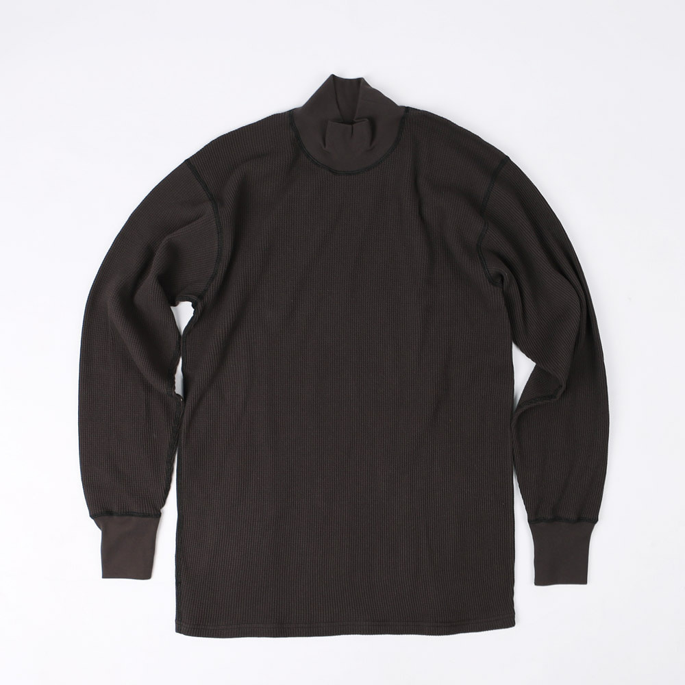 "[Power Wear]Long Sleeve T-Shirt""HIGH NECKED THERMAL""(Black)"