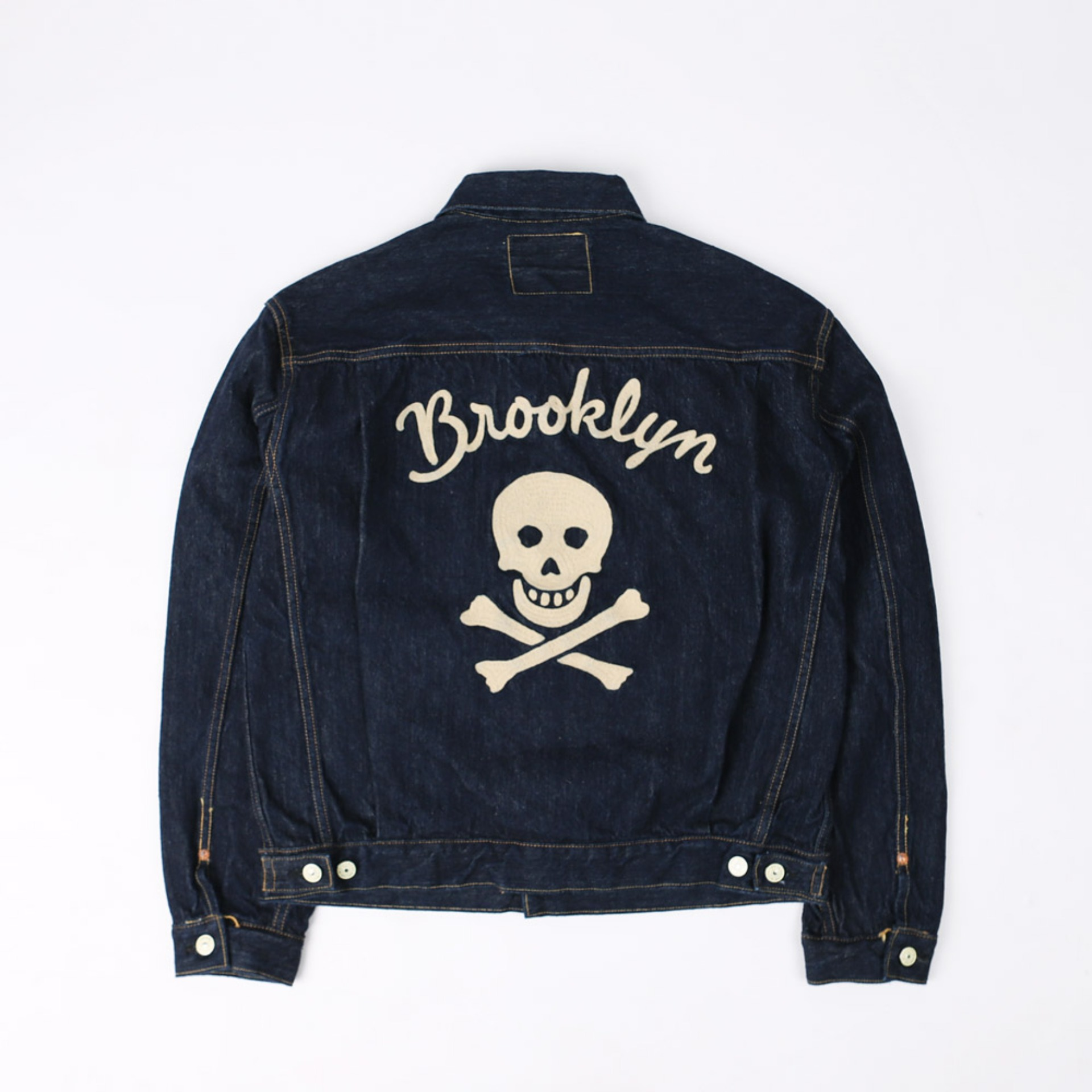 "[The Vanishing West]Denim Jacket 1951 MODEL Lot 507XXBROOKLYN GANG ""BLACK WIDOW"" (Indigo)"