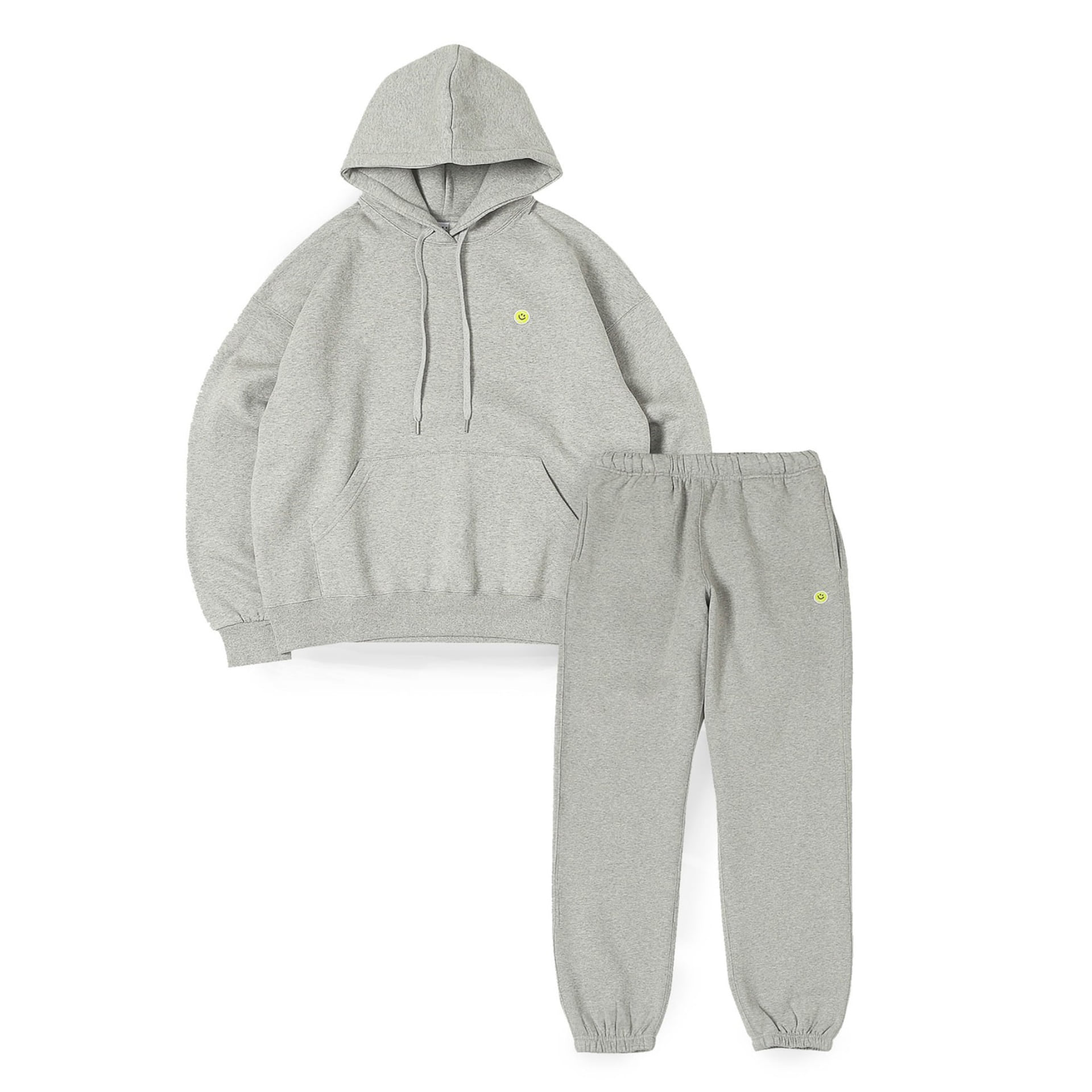 Smile Ball Sweat Set Up (Melange Grey)