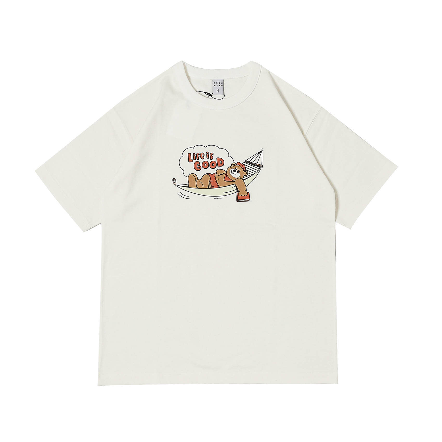 S/S PRINTED TEE - LIFE IS GOOD