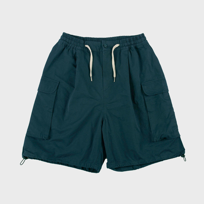 CB WIDE CARGO SHORTS(BLUEGREEN)
