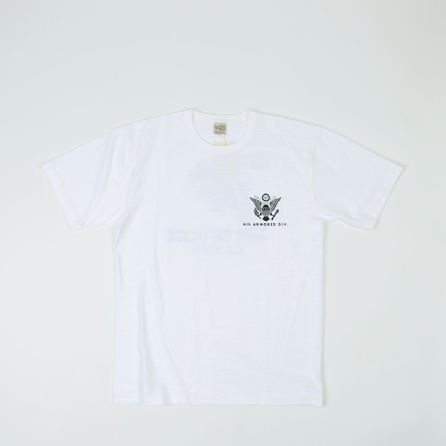 "LOOPWHEEL T-SHIRT ""68th TANK BATTALION"" (White)"