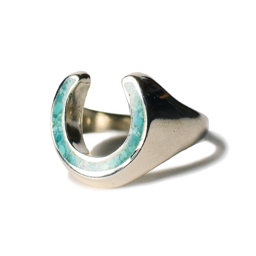 SD CALIFOLKS Horseshoe Inlay Turquoise Ring