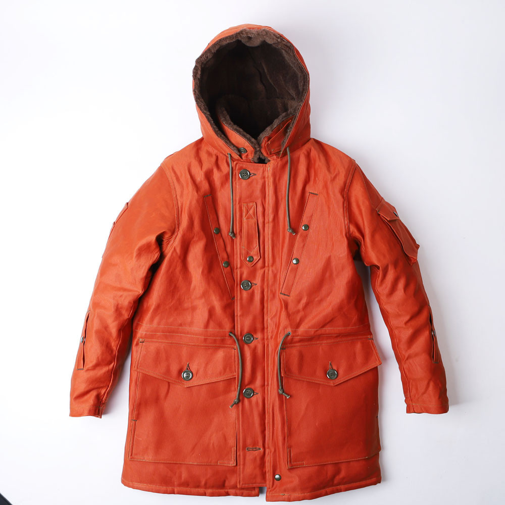 "[Union Special Overalls]Ultimate Evolution Clothing""FLIGHT DECK CREW COAT""(Dark Orange)"