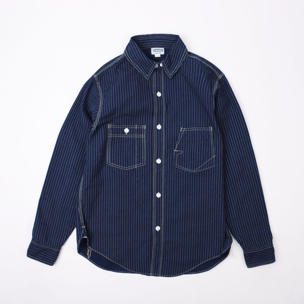 "[IRONALLS]WORK SHIRT""IRONALLS WORKSHIRTS""(Indigo Wabash)"
