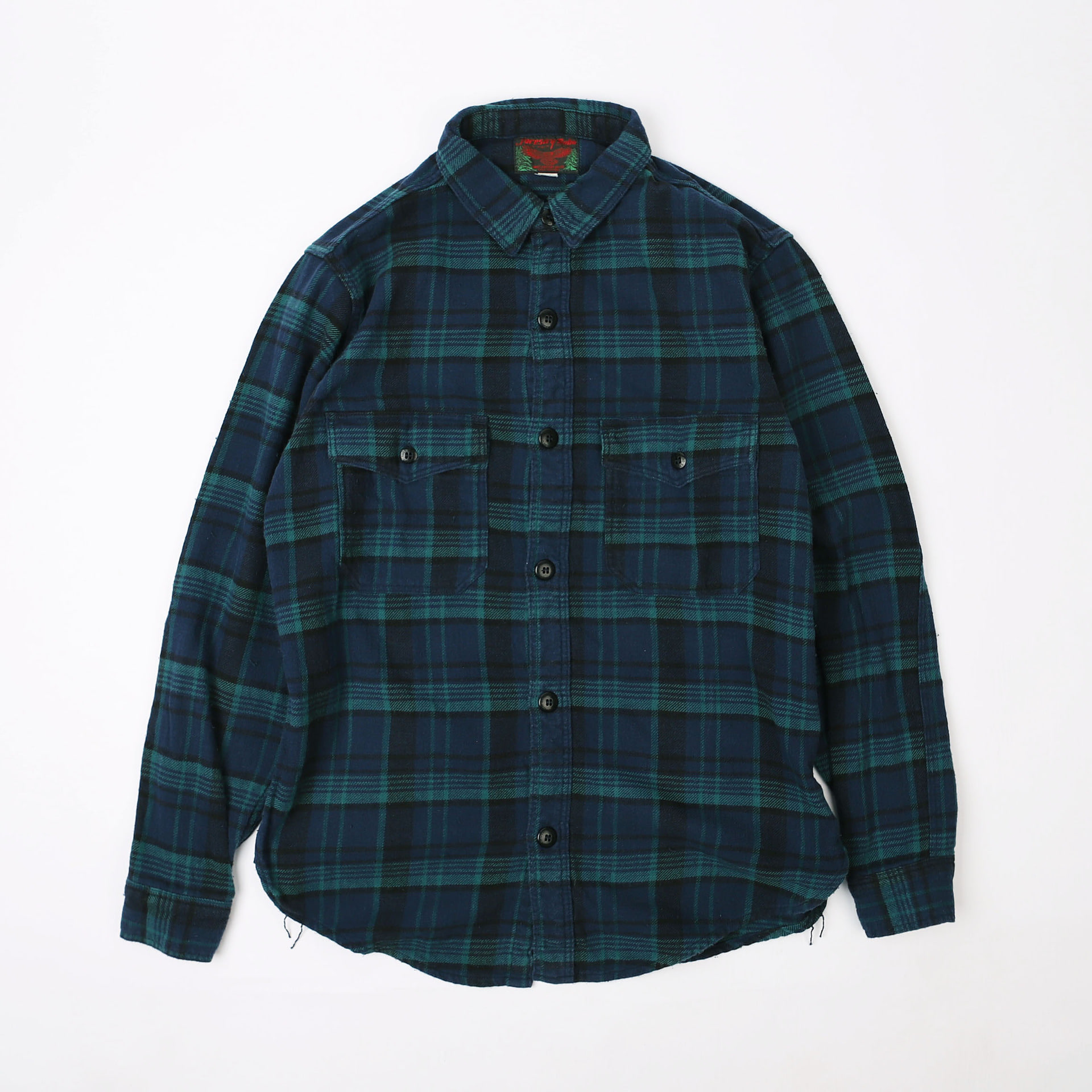 "[Great Lakes GMT. MFG. Co.]WOODMAN SHIRT""SKID ROW"" (Blue x Green x Navy)"