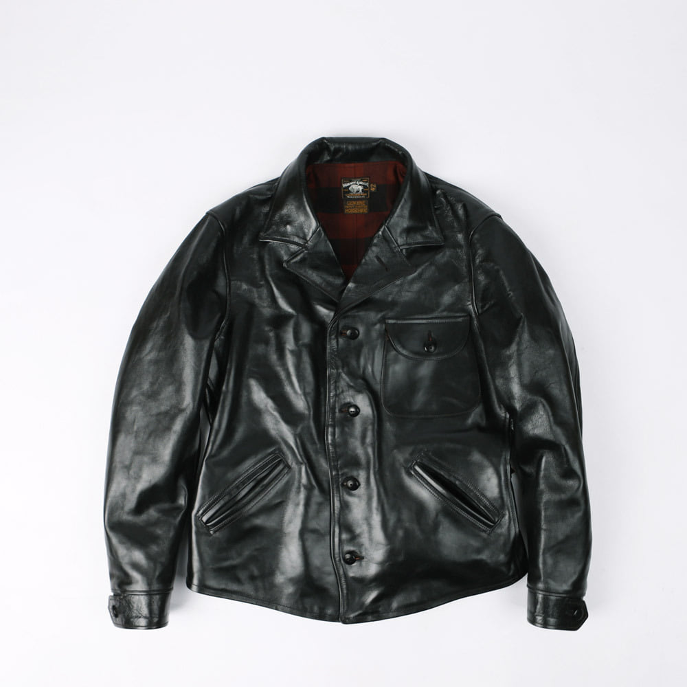 "[THE VANISHING WEST]Leather Work Jacket""FOUR CORNERS JACKET""(Vintage Black)"