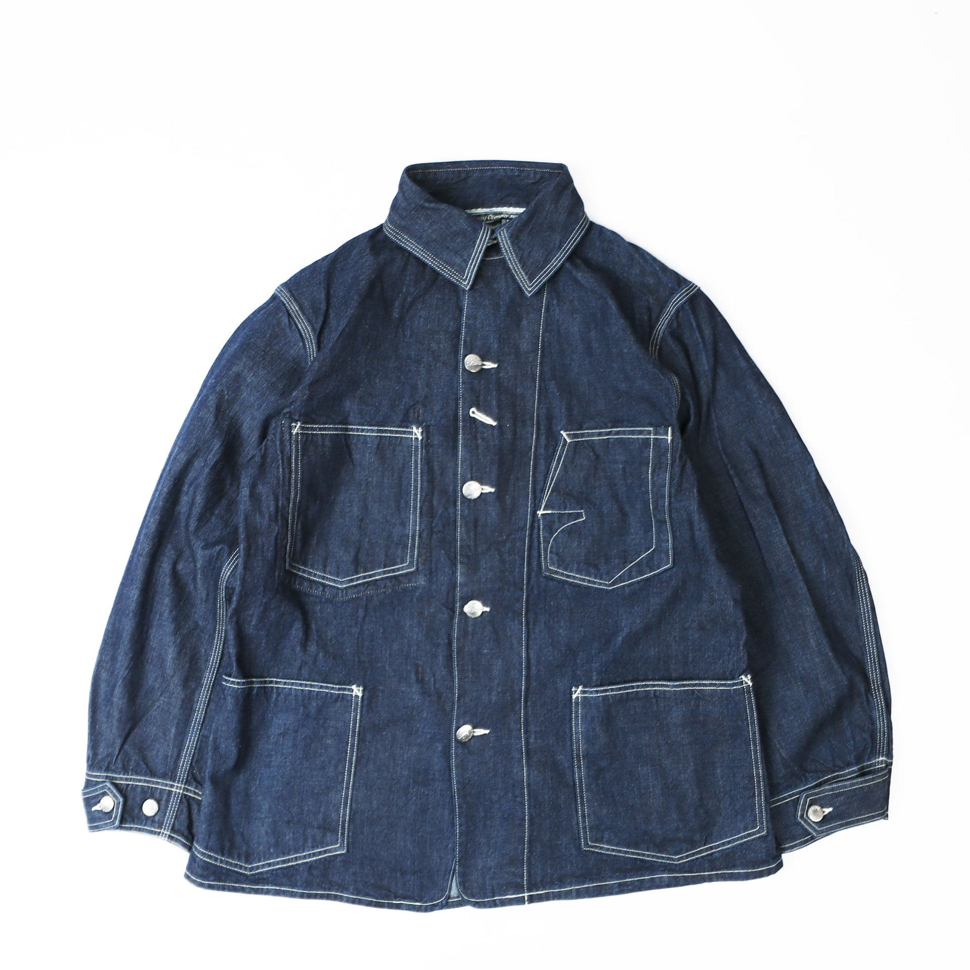 [IRON ALL FACTORIES CO.]Work JacketLot 100 Denim Jacket(10oz Indigo Denim)