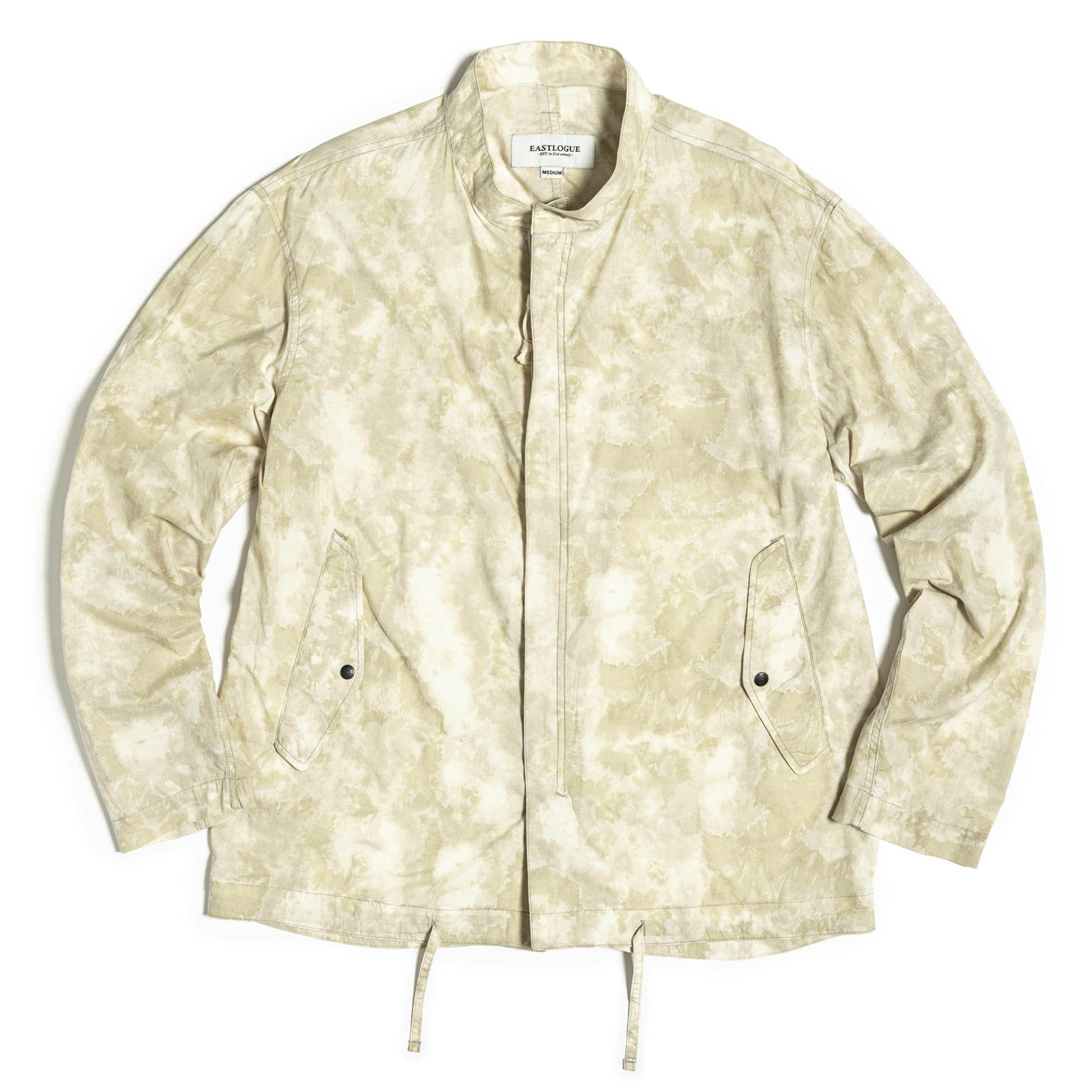 FISHTAIL SHIRT JACKET (White Hand Dyed)
