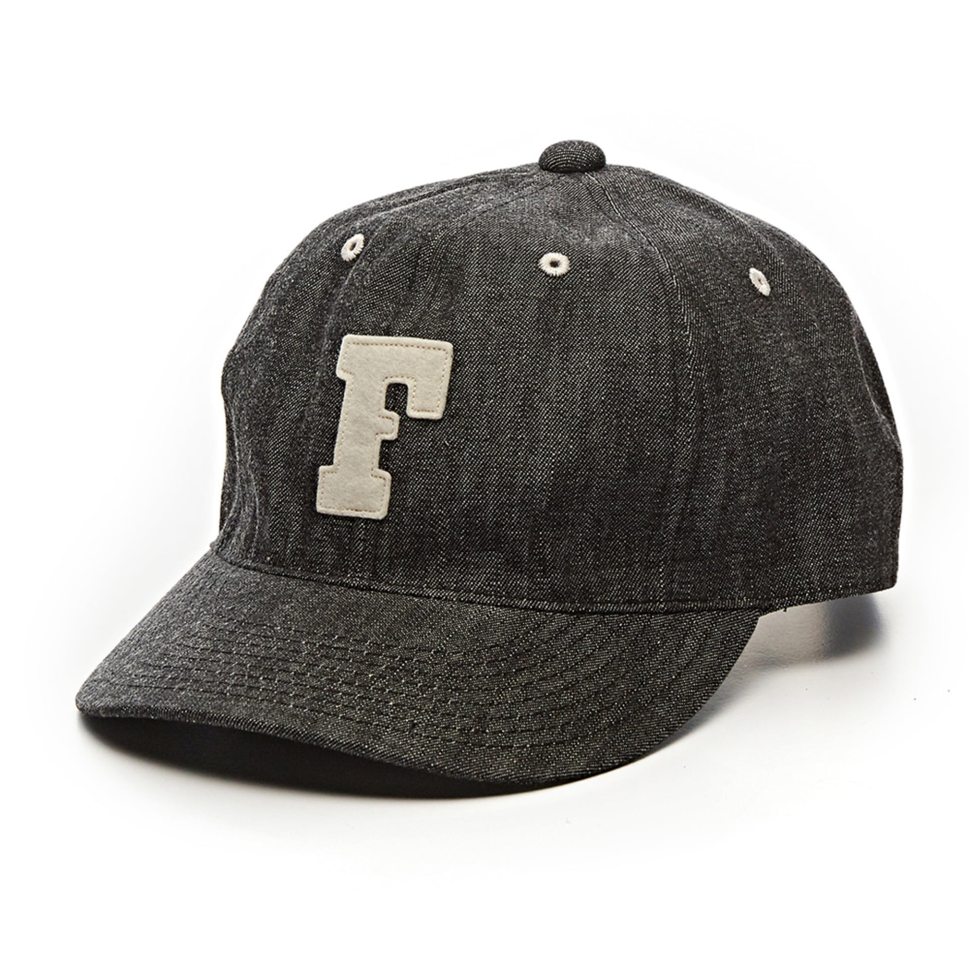 Denim Baseball Cap (Black)
