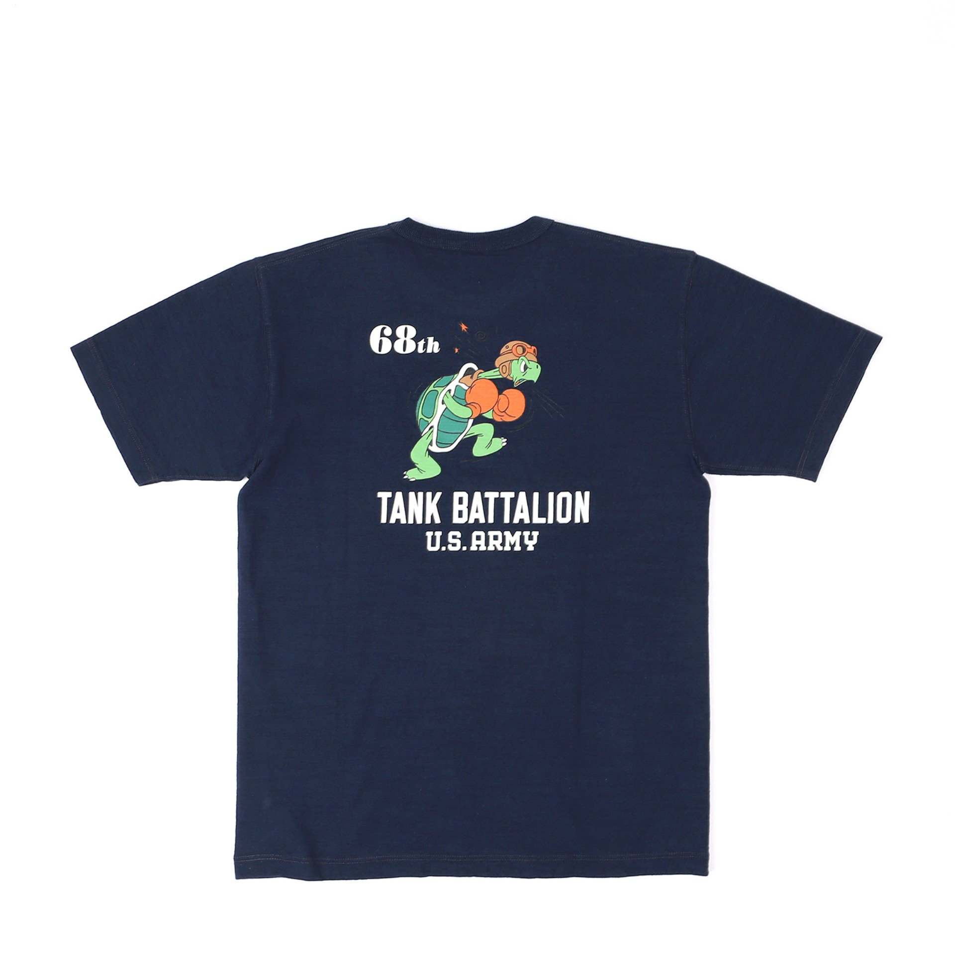 LOOPWHEEL T-SHIRT 68th TANK BATTALION (Navy)