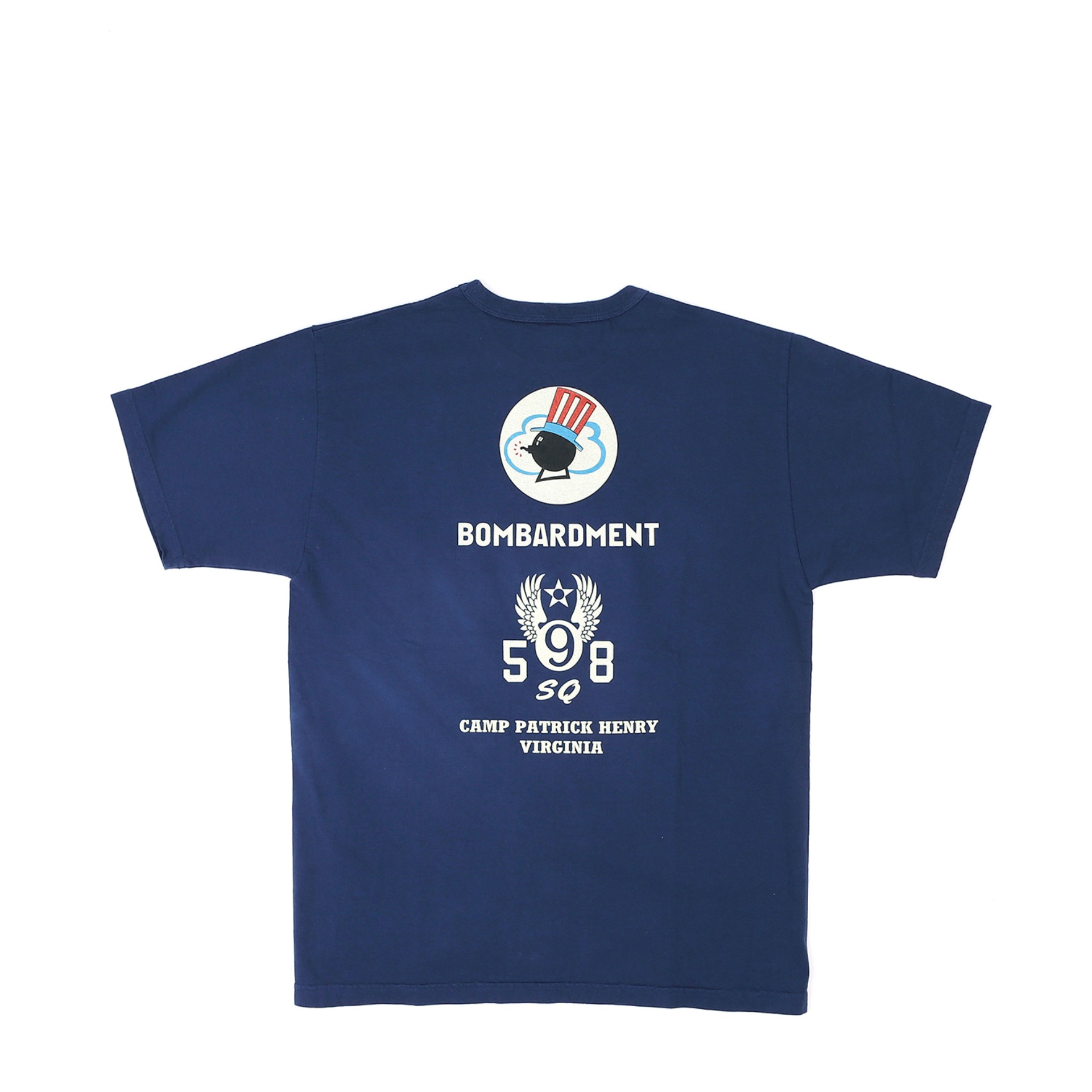 "LOOPWHEEL T-SHIRT ""598th BOMB SQ."" (Navy)"