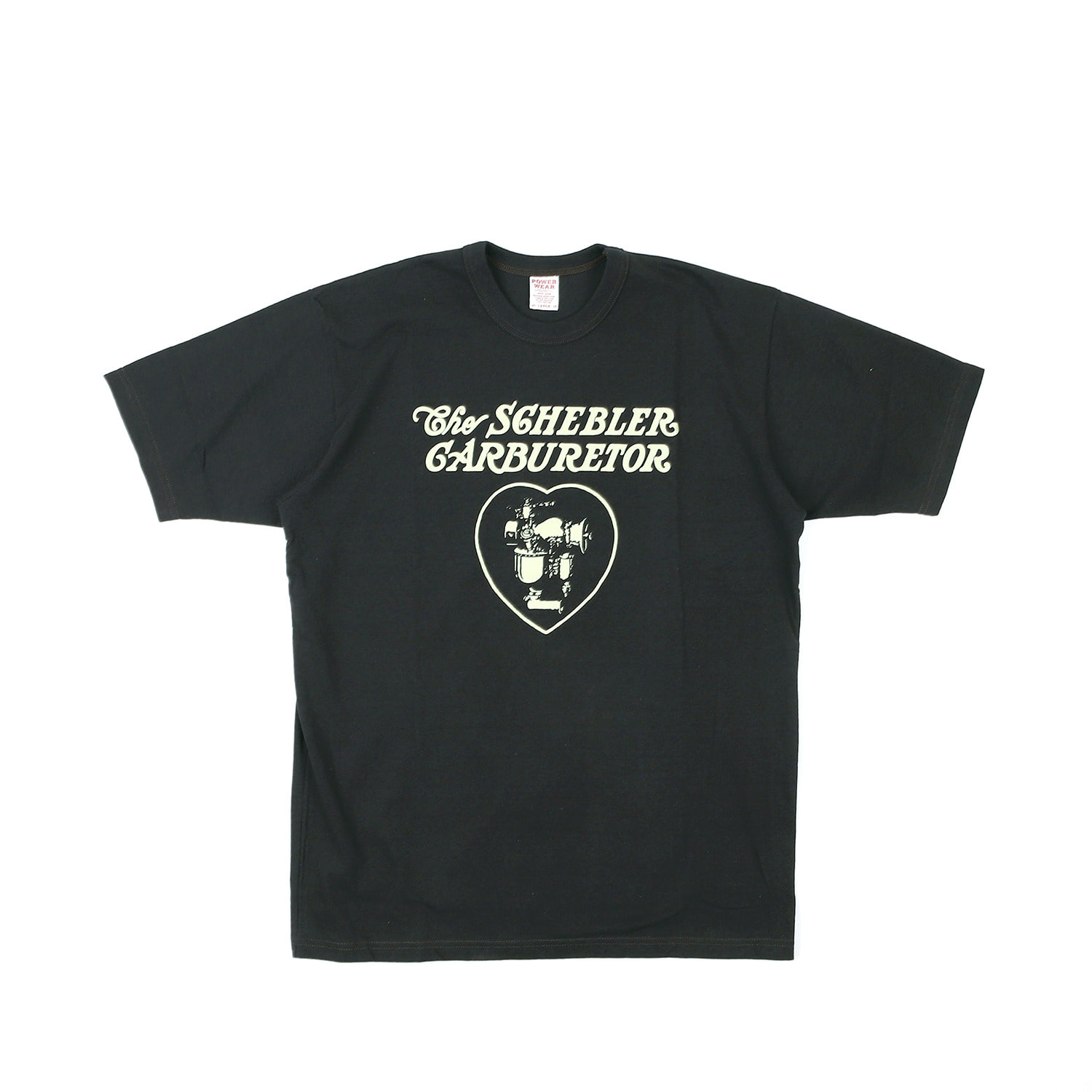 "[Power Wear]Set In Sleeve T-shirt ""SCHEBLER ""(Shady Black)"