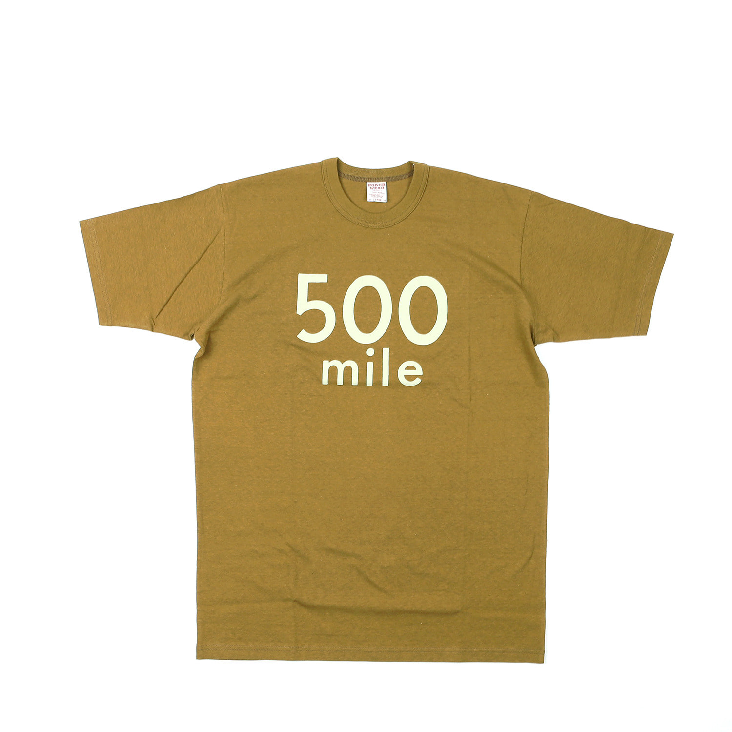 "[Power Wear]Set In Sleeve T-shirt ""500 Mile Race""(Olive Drab)"