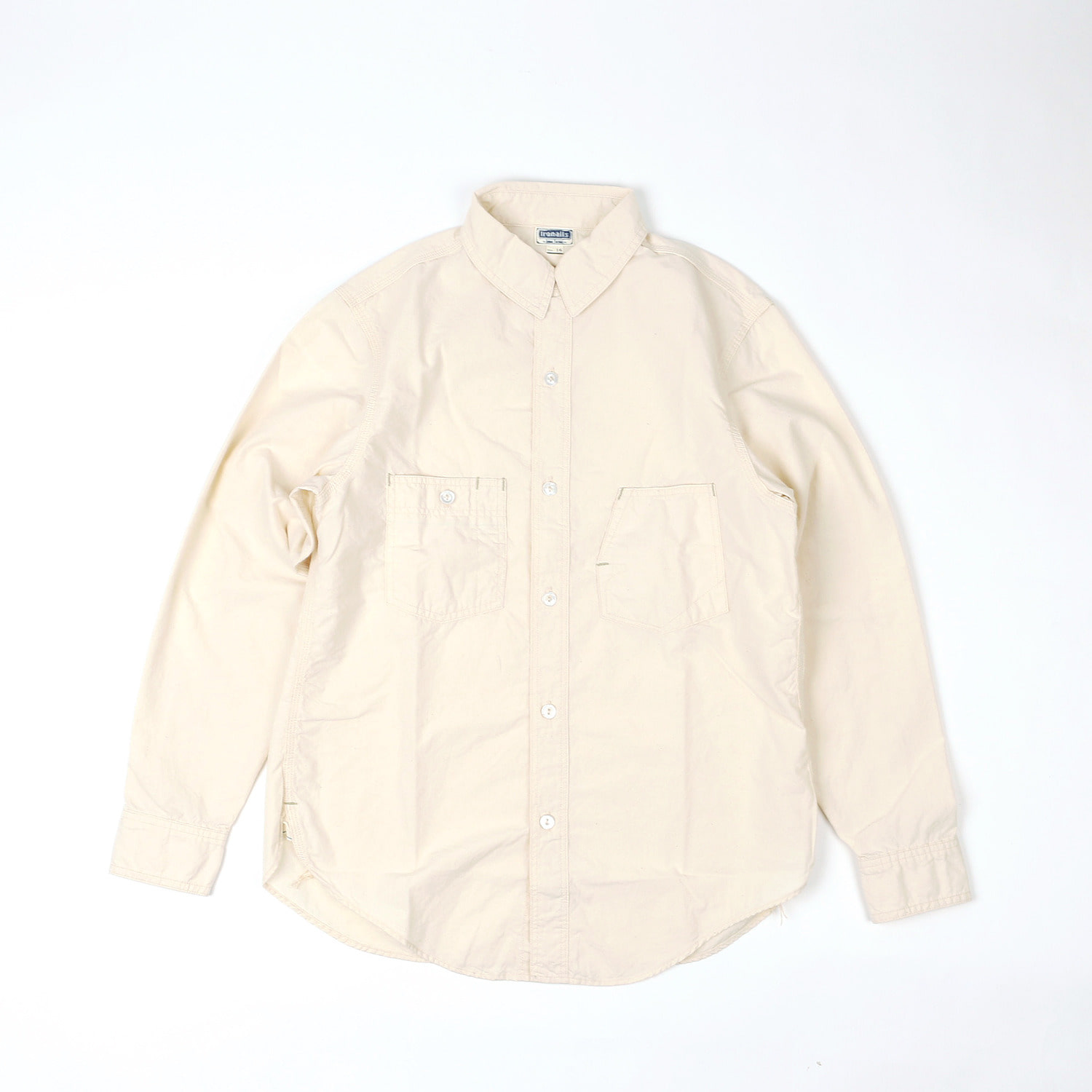 "[IRON ALL FACTORIES CO.]Work Shirts""IRONALLS WORKSHIRTS""(White Chambray)"